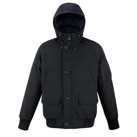 Mitown Pilot Bomber Down Jacket Black