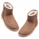 UREVO Casual Wool Boots Brown 37