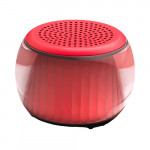 Velev TWS Colorful Lighting Bluetooth Speaker Red
