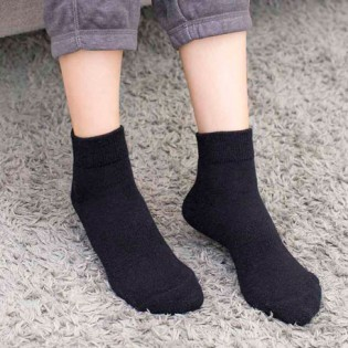 90points Merino Wool Casual Socks Men`s Black