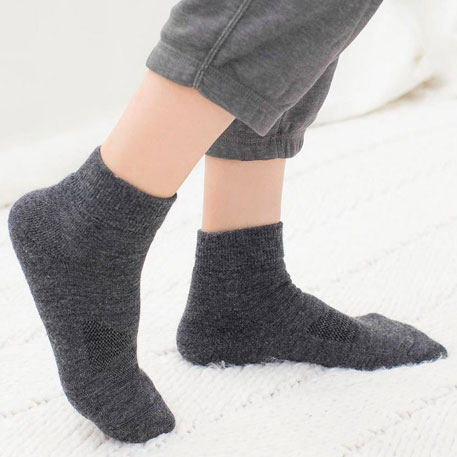 90points Merino Wool Casual Socks Womens Gray